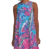 Vintage Abstract Pattern A-Line Dress