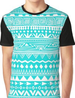 Boho In Blue And White Graphic T-Shirt
