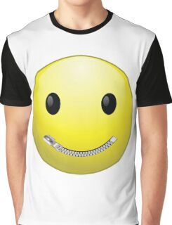 Smiley face with zip mouth Graphic T-Shirt