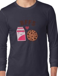 Best Friends - Cookies and Milk Funny Long Sleeve T-Shirt