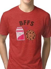 Best Friends - Cookies and Milk Funny Tri-blend T-Shirt