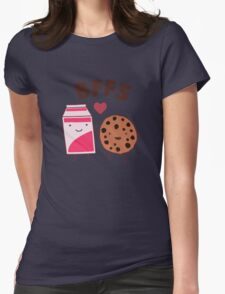 Best Friends - Cookies and Milk Funny Womens Fitted T-Shirt