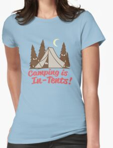 Camping is In-Tents Womens Fitted T-Shirt