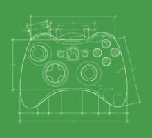 XBOX 360 Controller Draft T-Shirt by ChristineWilson