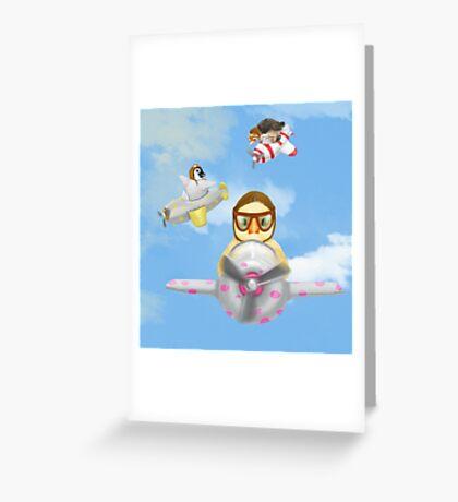 Airborne Greeting Card