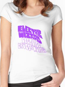 Electric Wizard - transparent Women's Fitted Scoop T-Shirt