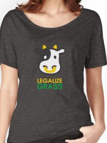 cow legalize the grass Women's Relaxed Fit T-Shirt