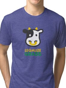 cow legalize the grass Tri-blend T-Shirt