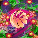 blooms of peach bubbles by LoreLeft27