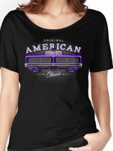 CLASSIC DODGE CHARGER MOPAR MUSCLE CAR | PURPLE Women's Relaxed Fit T-Shirt