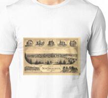 Vintage Pictorial Map of New Brunswick NJ (1880) Unisex T-Shirt