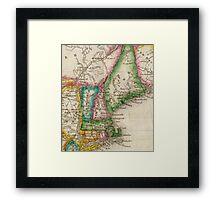 Vintage Map of New England (1822) Framed Print