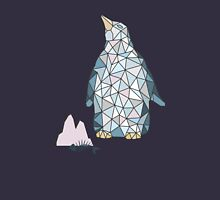 Seamless pattern with little cute penguins on pink background Unisex T-Shirt