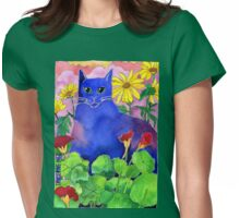 Sunset Cat Womens Fitted T-Shirt