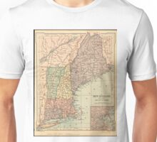 Vintage Map of New England (1880) Unisex T-Shirt