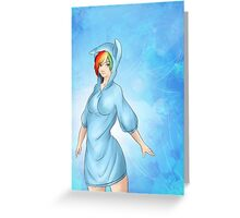 Rainbow Dash Humanized Greeting Card
