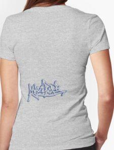 Graffiti Mazda Mob Blue Womens Fitted T-Shirt