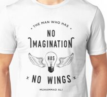 Muhammad Ali Wings Quote Unisex T-Shirt
