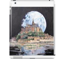 Mont St Michel, under a full moon iPad Case/Skin