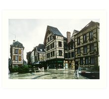 Place de Alexandre possibly Chalon sur Marne 19840506 0036 Art Print