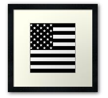 USA Flag - Black Framed Print