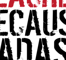 Funny 'Science Teacher Because Badass Isn't an Official Job Title' T-Shirt Sticker