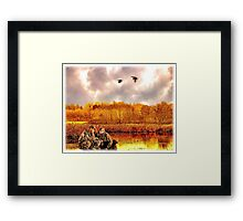 """Lessons of the First Hunt"" Framed Print"