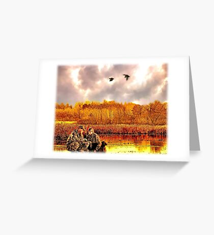 """Lessons of the First Hunt"" Greeting Card"
