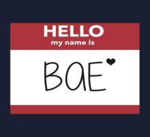 Hello My Name Is Bae Kids Clothes