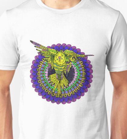 Flying Budgie Mandala Unisex T-Shirt