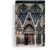 Open door to Cathedral St Etienne Chalons sur Marne France 19840506 0040 Canvas Print