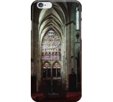 North Transept Cathedral St Etienne Chalons sur Marne France 19840506 0041 iPhone Case/Skin