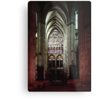 North Transept Cathedral St Etienne Chalons sur Marne France 198405060041 Metal Print