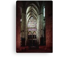 North Transept Cathedral St Etienne Chalons sur Marne France 19840506 0041 Canvas Print