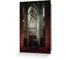 North Transept Cathedral St Etienne Chalons sur Marne France 198405060041 Greeting Card