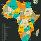Africa Map by JazzberryBlue