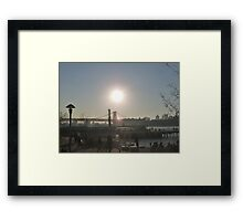 Brooklyn Sun Framed Print