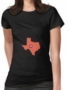 Texas State Heart Womens Fitted T-Shirt