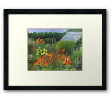 Vermont Garden Framed Print
