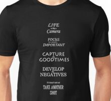 Life Inspirational Quote Unisex T-Shirt