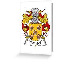 Rangel Coat of Arms/ Rangel Family Crest Greeting Card