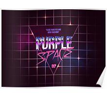 Purple Space 80s old school Design Poster