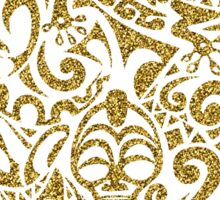Gold Glitter Tribal Turtle Sticker