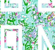 Lilly Pulitzer University of Rhode Island Sticker