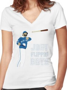 Joey flippin bats Women's Fitted V-Neck T-Shirt