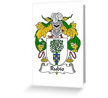 Rubio Coat of Arms/ Rubio Family Crest Greeting Card