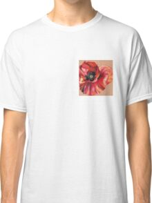 Oil Pastel Red Poppy Classic T-Shirt