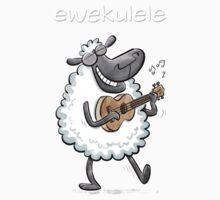 Ewekulele - a sheep and a ukulele Kids Tee