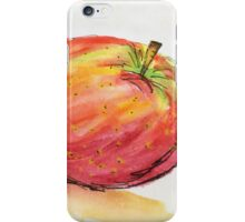 apple . watercolor. iPhone Case/Skin