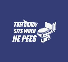 New York TOMBRADY SITS WHEN HE PEES Unisex T-Shirt